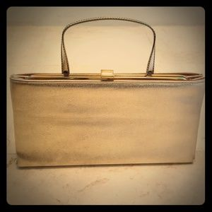 Vtg Golden Clutch
